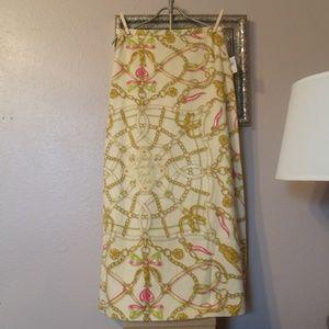 Moschino Chain/Heart Print Maxi Skirt